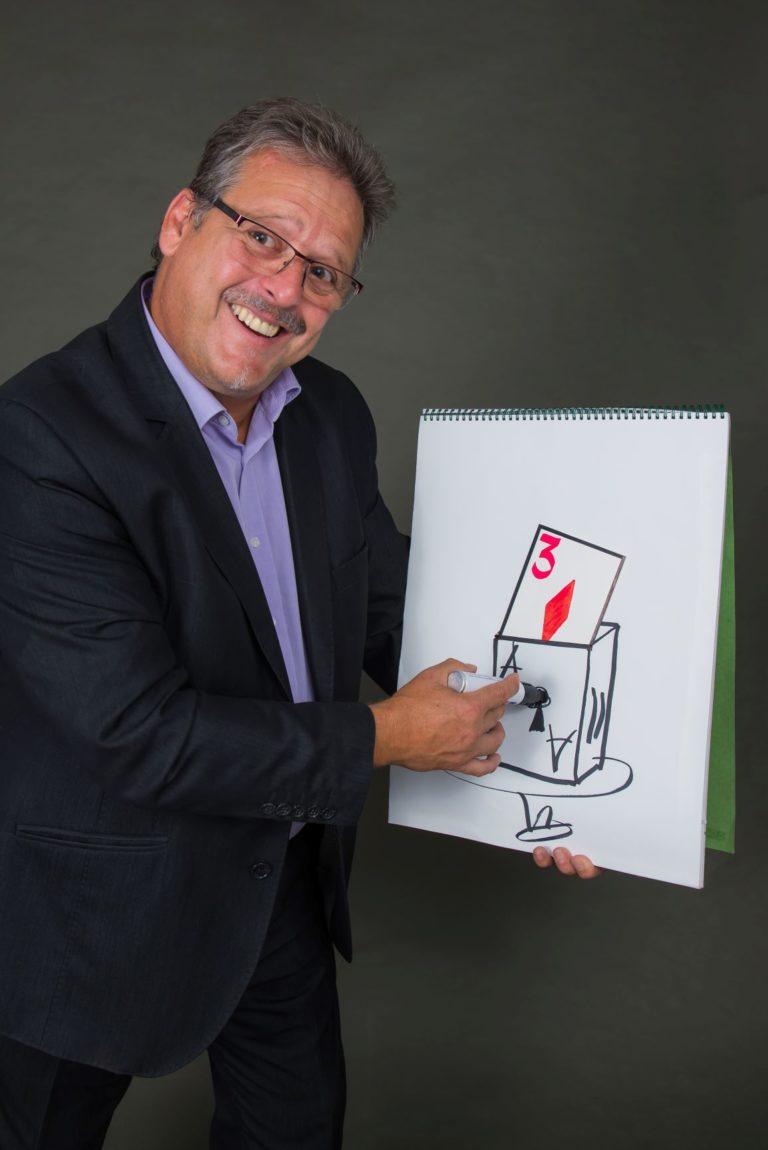Zauberer Handoni Stand up Zeichnen